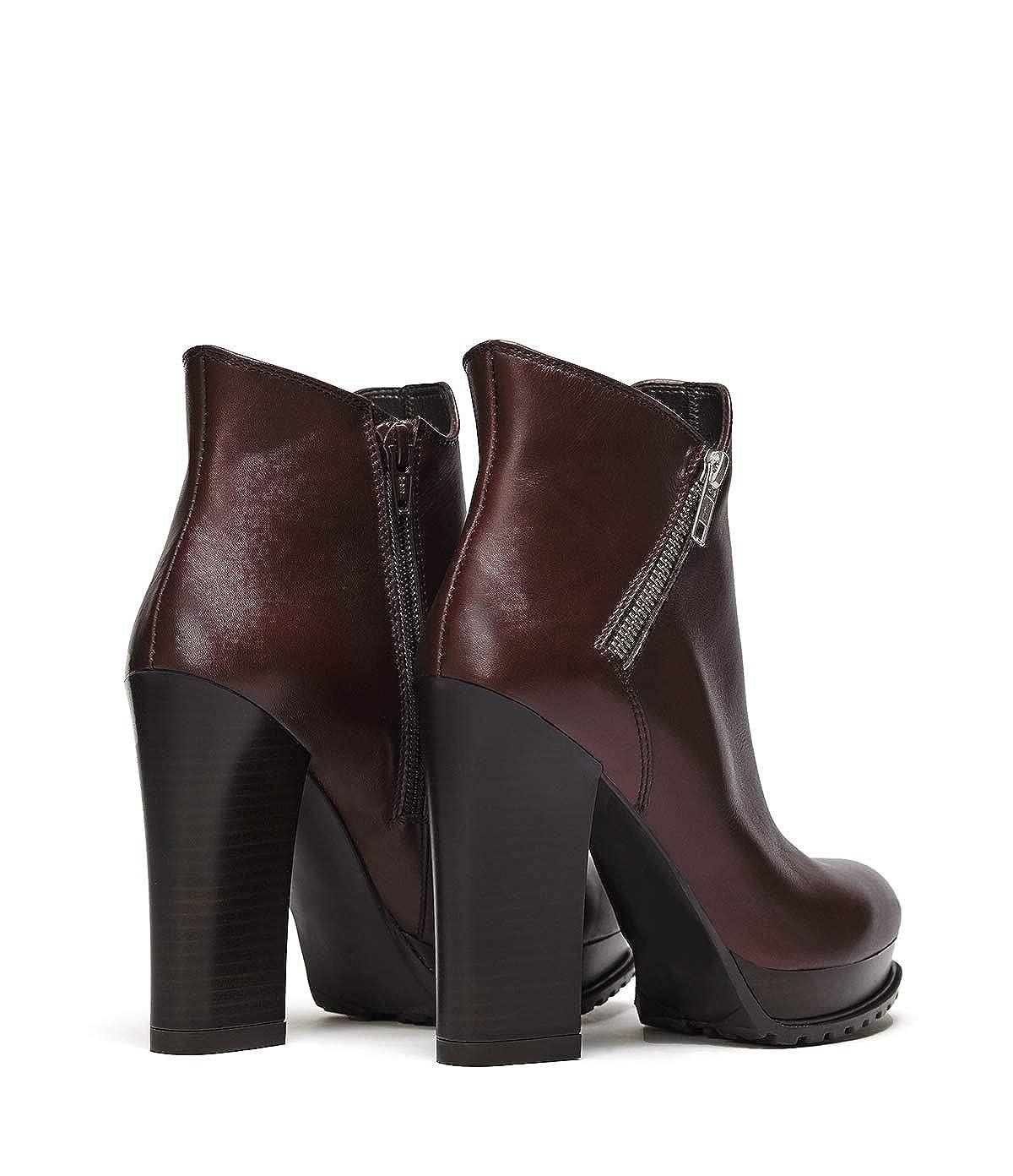 Poi Lei Damen-Schuhe Plateau Stiefelette Emma Bordeaux Stiefeletten Blockabsatz Leder Leder Leder bebd18