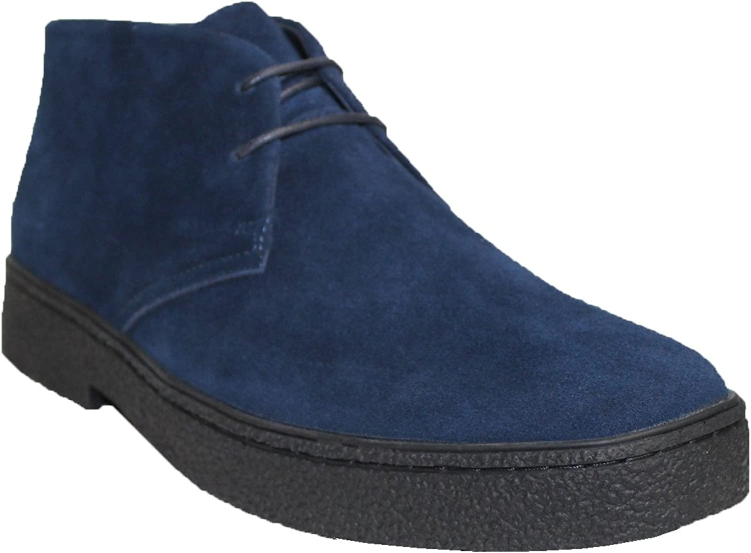 Chukka High Top Mens Navy Suede Shoes