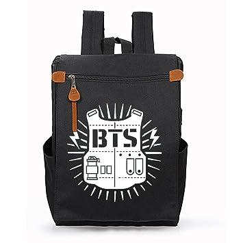 BTS Mochila Casual Mochilas Escolares Mochila para Deportes al Aire Libre Mochila de Viaje Bolsa de Senderismo para Mujeres y Hombres