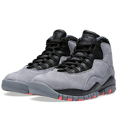Nike Men's Air Jordan Retro 10, COOL GREY/INFRARED-BLACK, ...