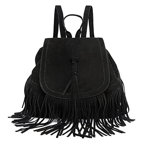 f7ec7bb128b1 Image Unavailable. Image not available for. Color  LUI SUI- Valentine s Day  Gift Women s Fringed BackpackTassel Shoulder Bag