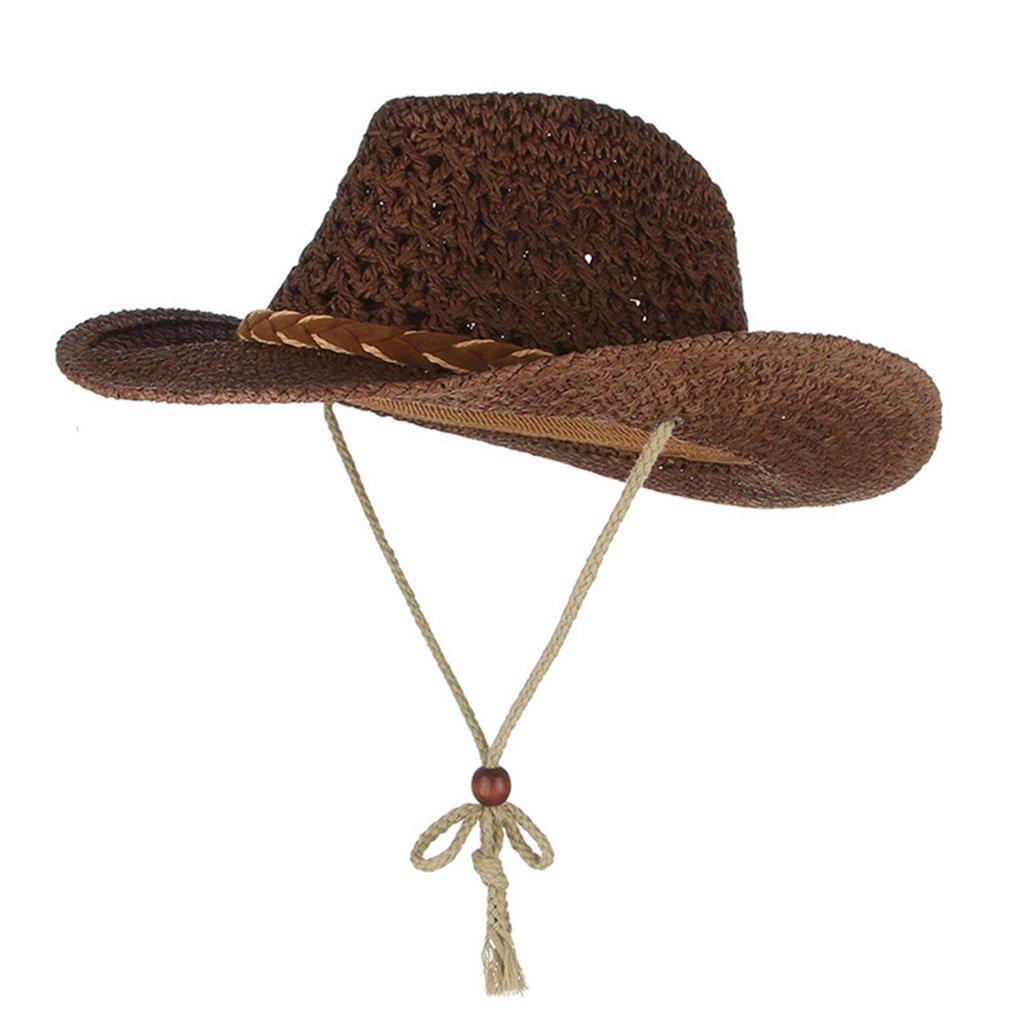 Kids Straw Hats-Summer Wide Brim Travel Beach Sun Cap Unisex