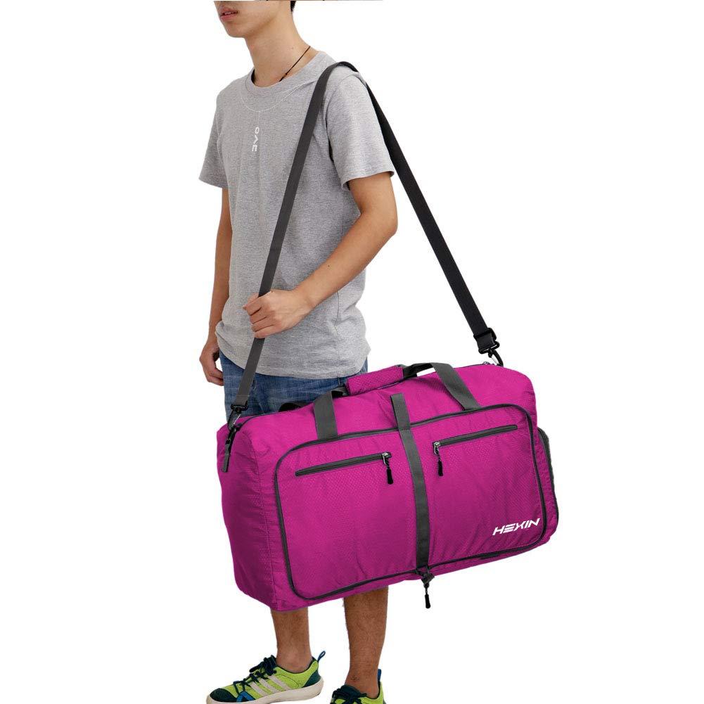 Gym Sac de Voyage l/éger avec Grande capacit/é 85L Violet Sport Flyes Sac de Voyage Pliable pour Bagage