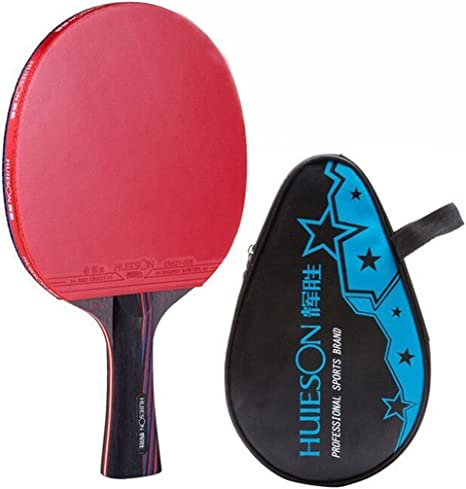 Huieson 4Star Table Tennis Paddle Bat Racket w// Carrier Bag 3 Ping Pong Ball ACC
