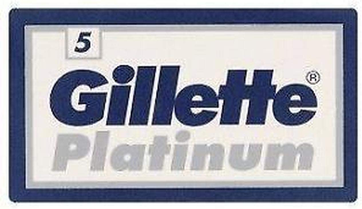 50 GILLÈTTE Platinum Double Edge Razor Blades Made in Russia