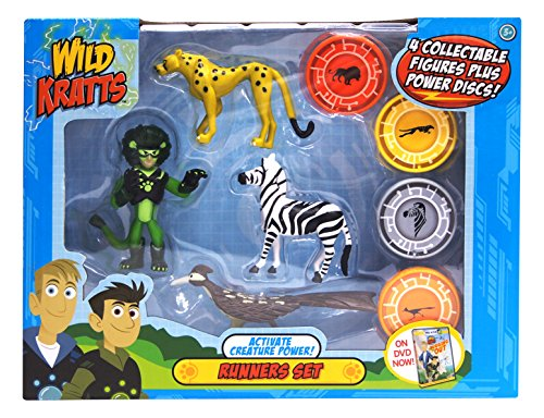 Wild Kratts 4-Pack Action Figure Set - Activate Creature Power - (Wild Animal Figure)
