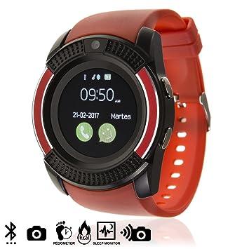 DAM TEKKIWEAR. DMV023RED. Smartwatch Bluetooth con Sim, Micro SD Y ...