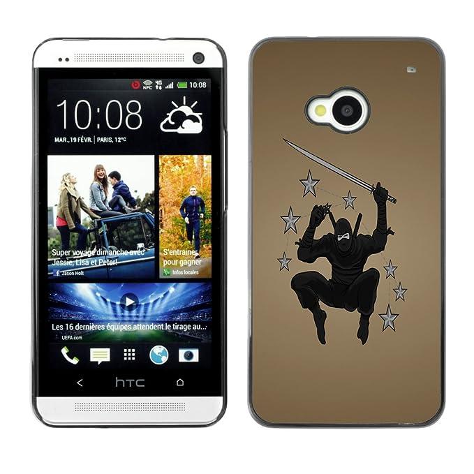 KIKI Tech para HTC One M7 - Estrella Ninja guerrero: Amazon ...