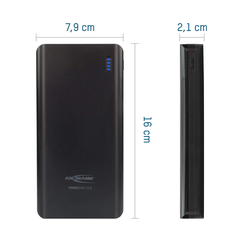 Ladeger/ät f/ür alle Handy Smartphone Tablet Apple iPhone iPad Samsung Kindle uvm Externer Akku ANSMANN Powerbank 10000mAh /& 2.1A Ausgang T/ÜV gepr/üft Power Bank 2 USB Ports /& LED Statusanzeige