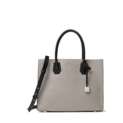 d0ae9fbddd35 Amazon | MICHAEL KORS MERCER LARGE LEATHER TOTE TRY-TONE PEARL GREY ...