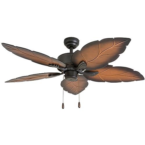 Prominence Home 50571-01 Beauxregard Tropical Ceiling Fan 52 , Mocha, Bronze