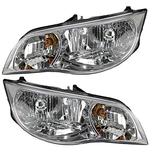 - Driver and Passenger Headlights Headlamps Replacement for Saturn Coupe 15264217 15264216 AutoAndArt