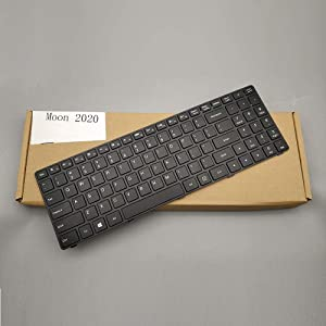 Moon2020 US Layout Keyboard Replacement for Lenovo Ideapad 100-15IBD 80QQ 80QQ00E6US B50-50 SN20J78609 V6385H-US
