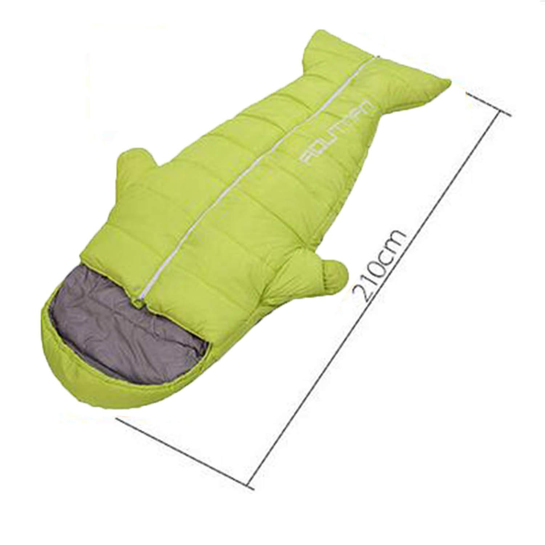 LNYF-OV Outdoor Schlafsack Erwachsene Kreative Schlafsack Verdickung Winter Indoor Wärme Ultra Light Portable Camping Pinguin, Gelb, Größe  210  80cm