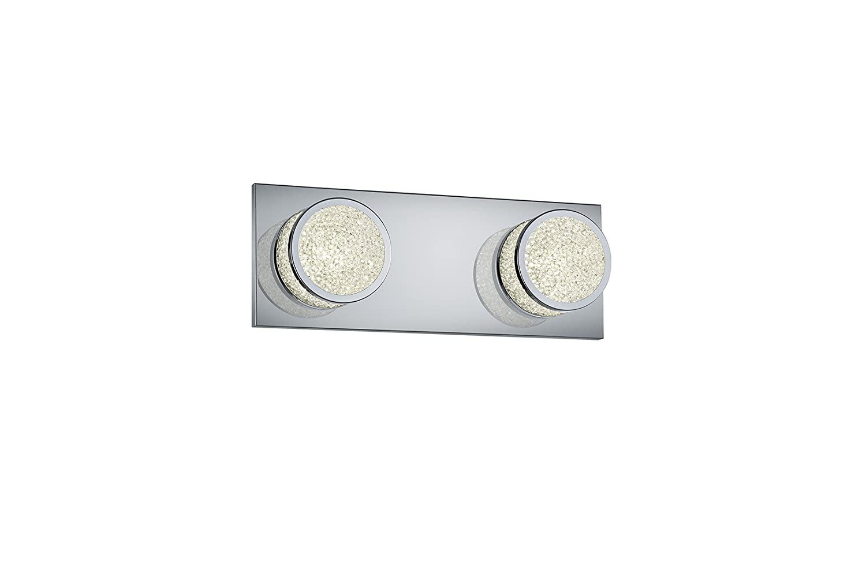 Trio Leuchten LED-Wandleuchte Clinton, Chrom, acryl-Krakelee, 275290206