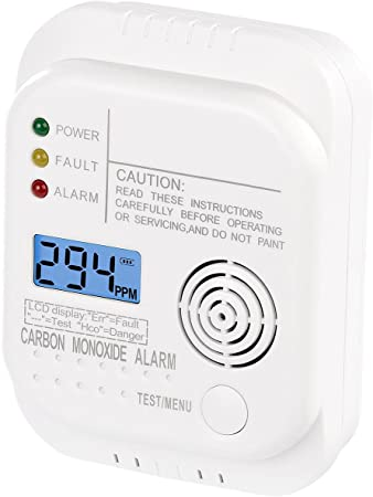 CO Melder Alarm Kohlenmonoxid Gasmelder Gaswarner Rauchmelder LCD Display