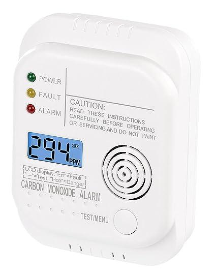 VisorTech – Detector de monóxido de Carbono: – Detector de monóxido de Carbono con Pantalla