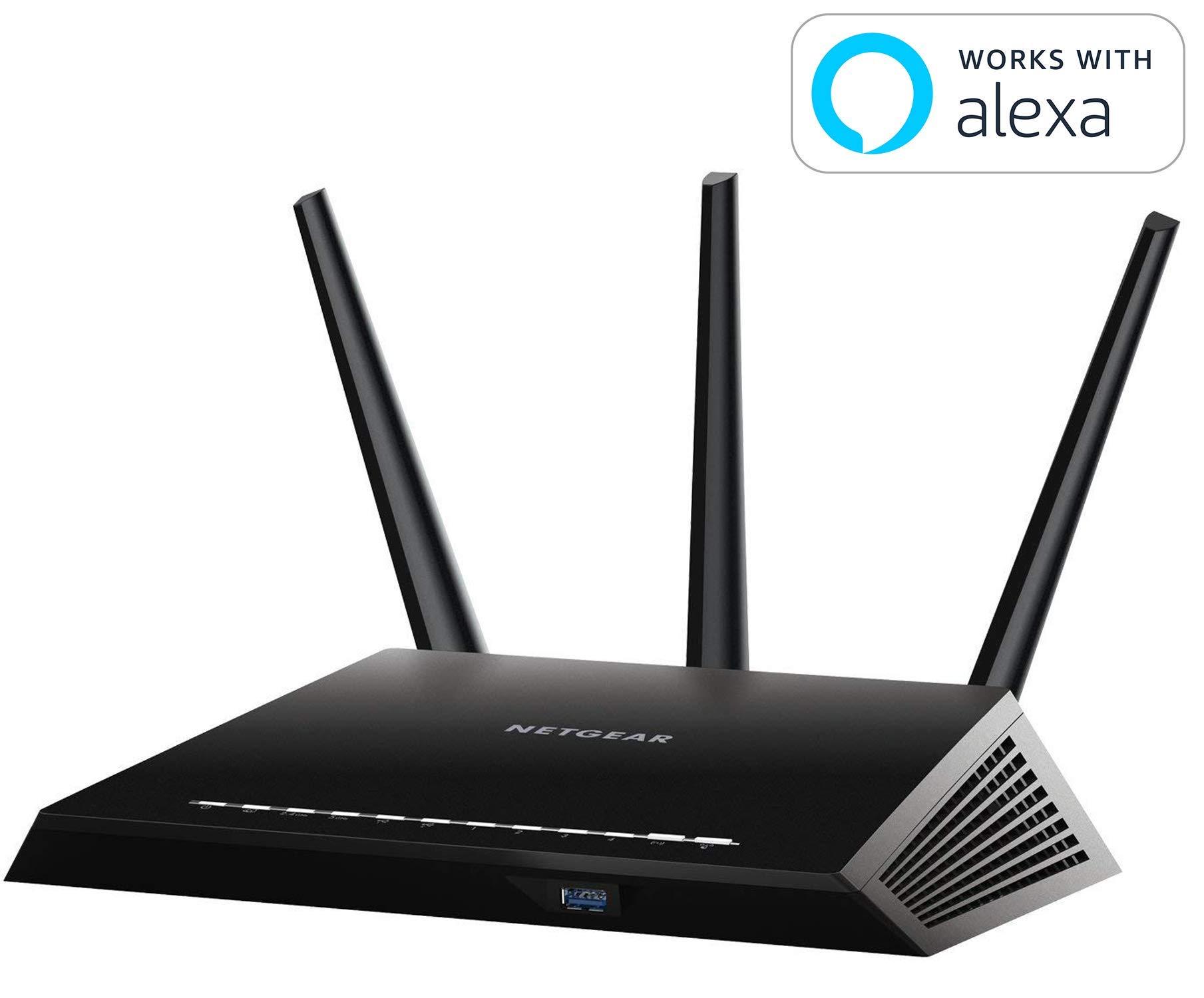 NETGEAR Nighthawk AC1900 Smart WiFi Router - Dual Band Gigabit (R6900-100NAS) by NETGEAR