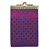 Women's French Ten Slot Accordion Style Credit Card Wallet - Purple