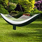 100% Brande New and High Quality!>>>Specification:Material: Oxford and Mesh Color: Army Green Hammock Size: 280 x 145cm/ 109.2 x 56.6inch (L x W) Folding Size: 25 x 19 x 10cm/ 9.8 x 7.4 x 3.9inch (L x W x H) Nylon Rope Length: Long 6m/ 2....