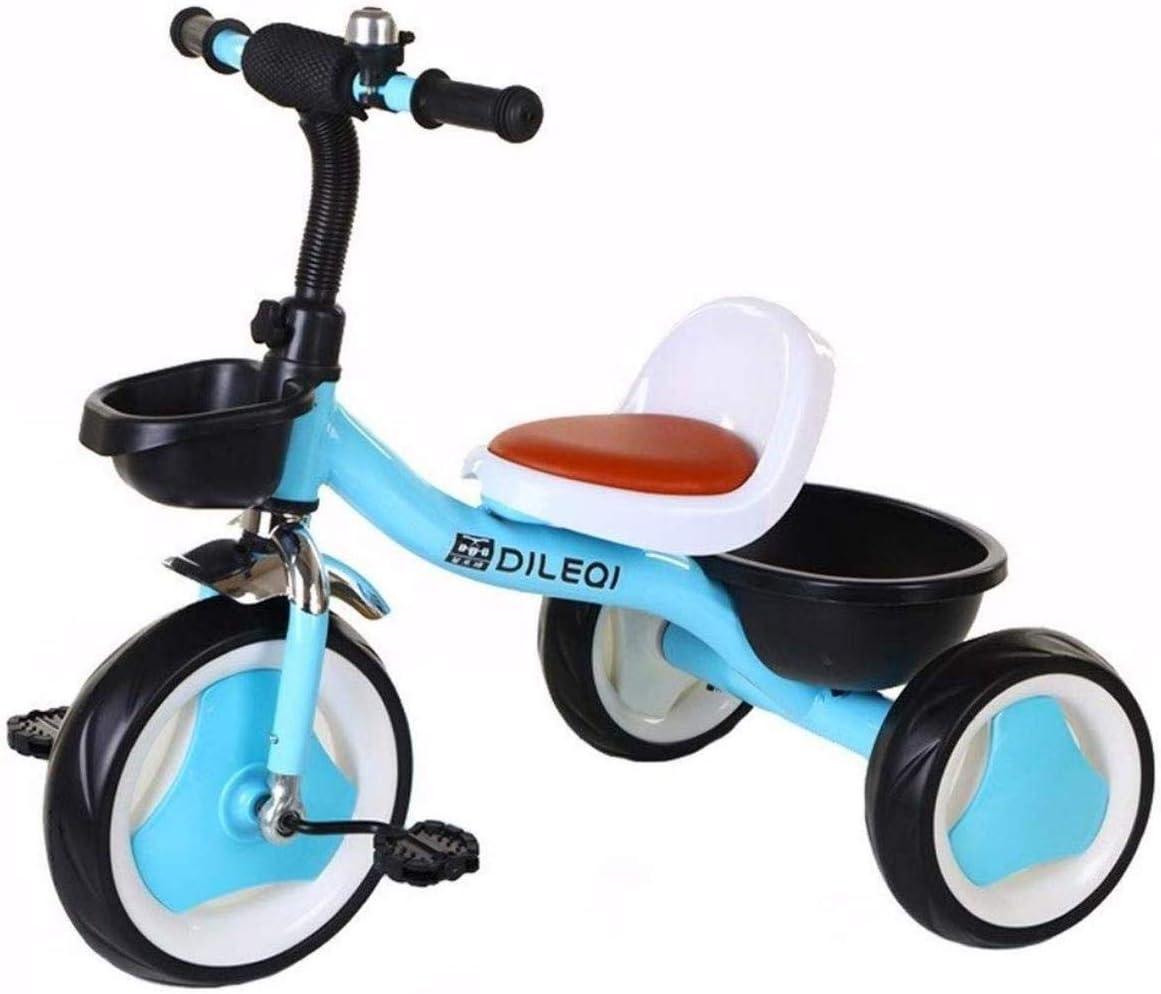 Archivador plano Bicicleta de los niños del niño de Bicicleta de Equilibrio triciclos, Bicicletas niño Niño con Marco de Acero Retro Bici del bebé Cubierta Triciclo niños 1-3-6 años