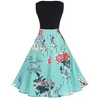 ❤️• •❤️ LUCKYCAT Räumungsverkauf Damen Kleid mit Spitzenstickerei Vintage Spitze Drei Viertel Sleeve Hochzeit Kleid Swing Partykleid Cocktailkleid