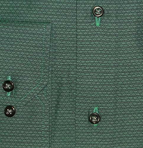Herrenhemd lang, normale Armlänge, grün, Wallstreet-Kragen