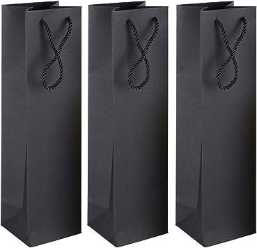 ❤12pcs Bolsas Botella Vino Regalo Color Negro (9*9,5*35cm) Pack de 12 unidades: Amazon.es: Amazon.es