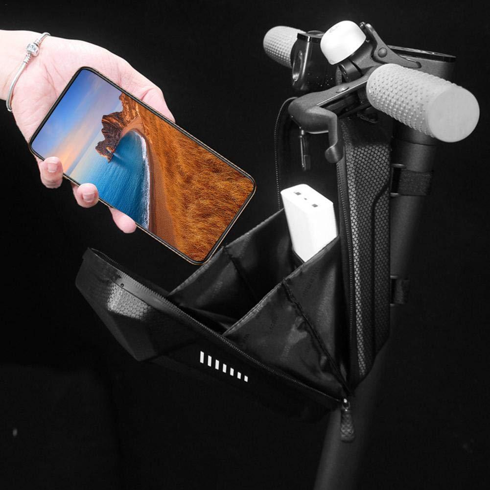 Scooter el/éctrico Colgador delantero EVA PU 4.72 /× 4.13 /× 9.84 Pulgada-Negro Bolsa de almacenamiento para scooter Adecuado para Xiaomi Sedway Ninebot ES ES1 // ES2 // ES3 // ES4 Xiaomi Mijia M365