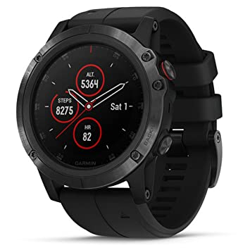 Relógio Multiesportivo Garmin Fenix 5X Plus Safira Preto com Monitor  Cardíaco no Pulso b064ce7eef