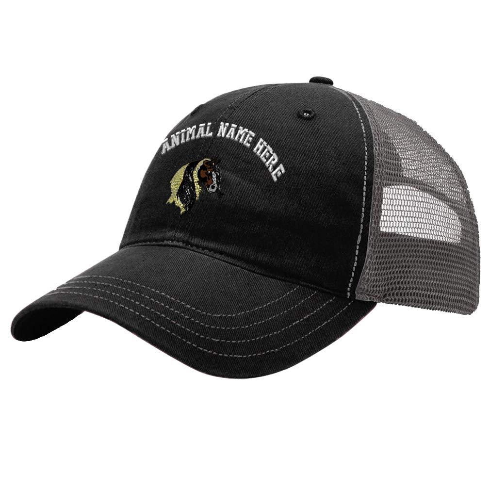 Custom Trucker Hat Richardson Horse Gypsy Vanner Embroidery Animal Name Cotton