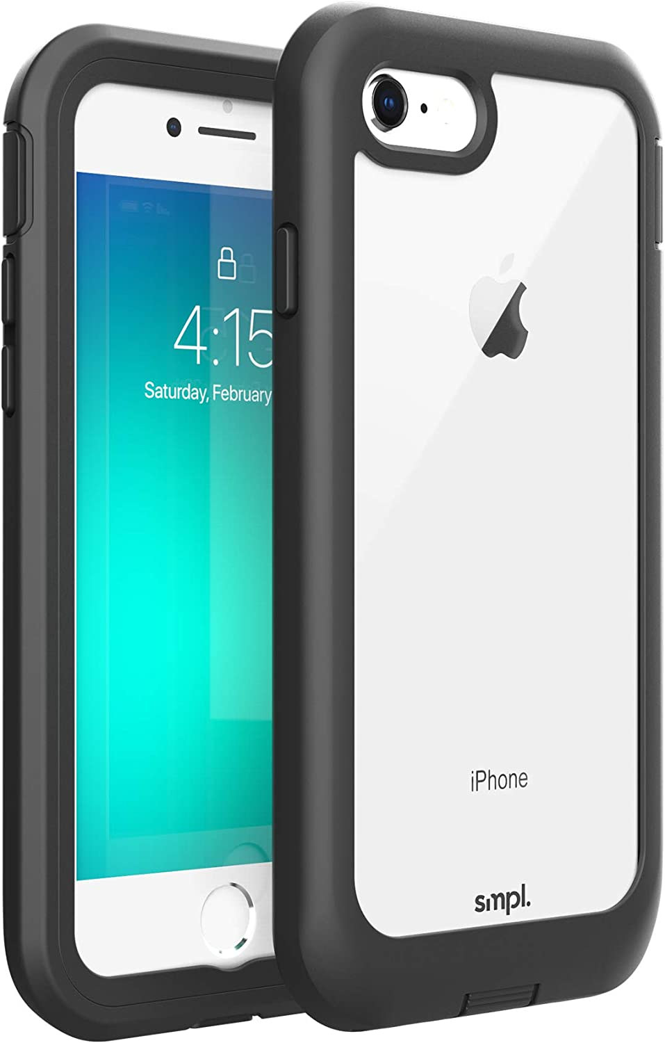 SMPL iPhone 7/8/SE Drop Proof, Lightweight, Protective Wireless Charging Compatible iPhone Case - Black