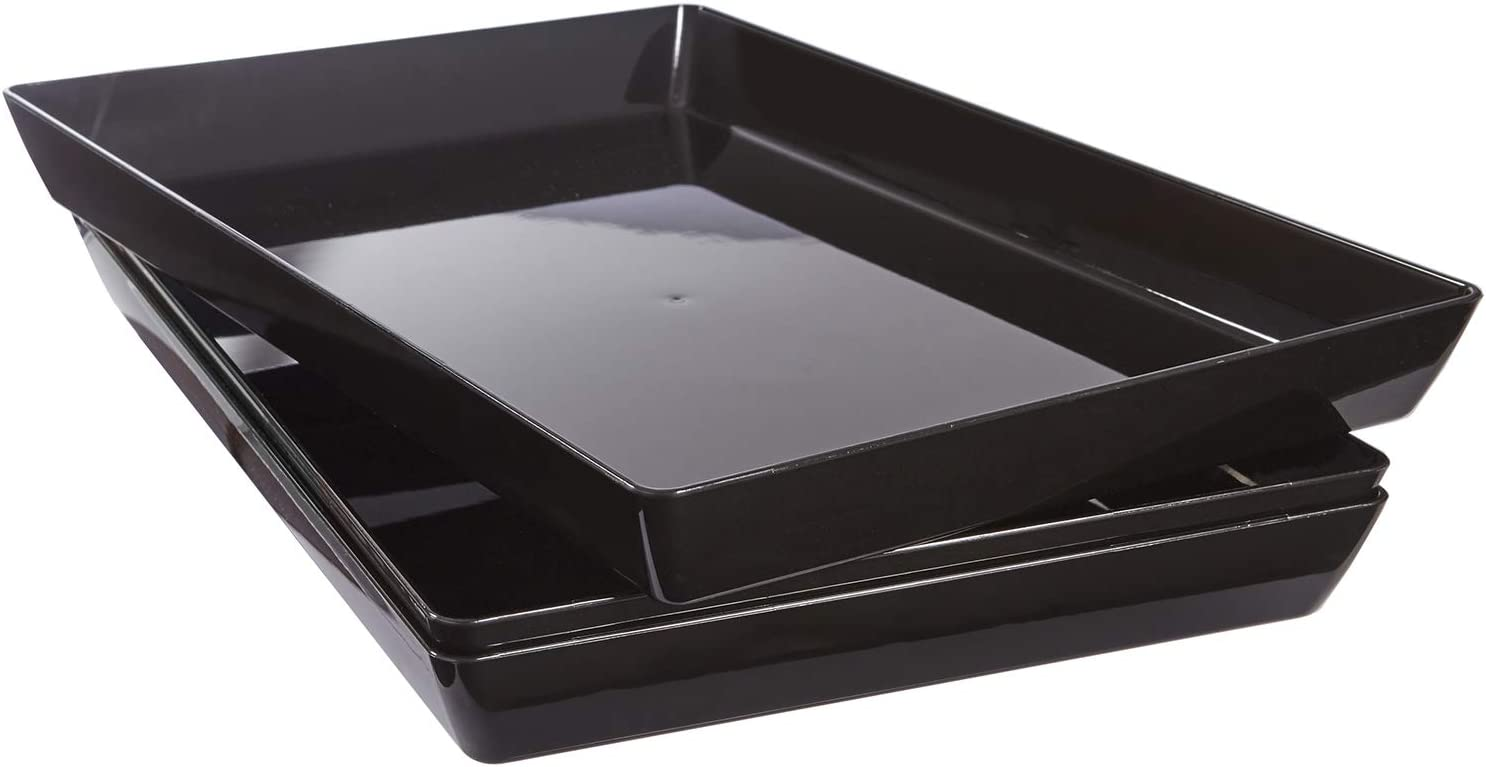 "US Acrylic Avant 15"" x 10"" Plastic Serving Tray 