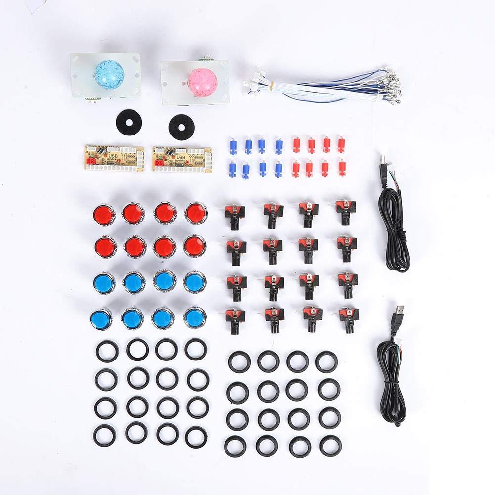 Ciglow Arcade Joystick Buttons, Kit USB Core Board Arcade DIY Retropie Cabinet Kit 32mm Electroplated Button + 5P Rocker. by Ciglow