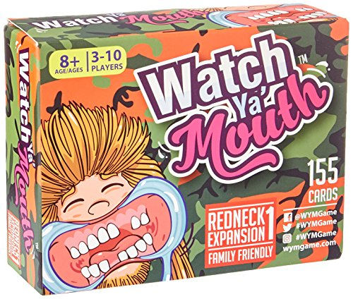 Watch Ya Mouth REDNECK Expansion #1 Phrase Card Game Expansion Pack, for All Mouth Guard - Style Peoples Watch