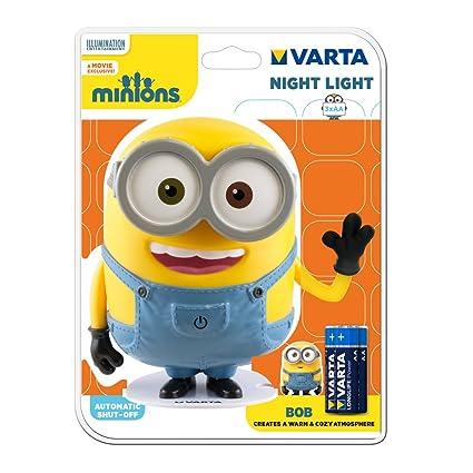 92d556c918 Varta LED Minions Children's Night Light Bob incl. 3x High Energy AA  Battery Flashlight Mood
