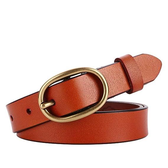 GAOQINGFENG femmes bronze ceintures, ovale, ovales, des boutons, des  pantalons pour femmes 4d9ffd09240
