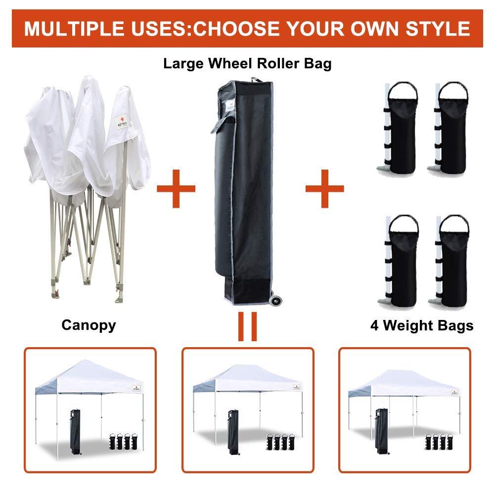 Keymaya 10'x10' Ez Commercial Instant Tent Heavy Duty Pop-up Canopy Shelter Bonus Weight Bag 4-pc Pack (Black) by Keymaya (Image #6)