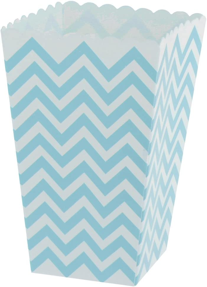 MagiDeal 12pcs//Paquet Bo/îte de Pop-corn Papier Sac Emballage Alimentaire Jetable Recyclable Rayure Bleu