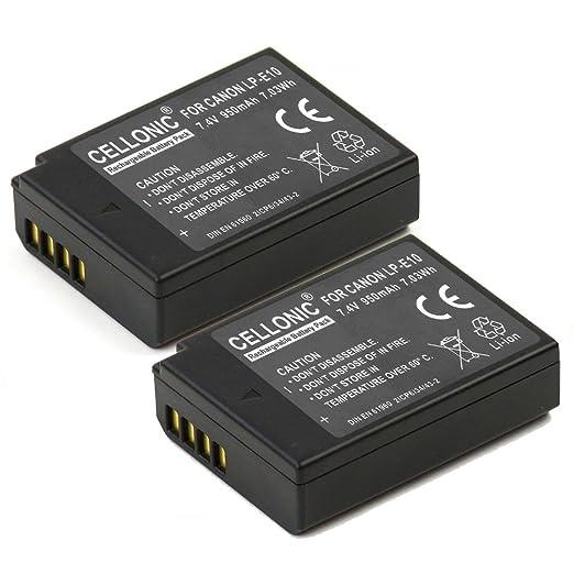16 opinioni per 2x Cellonic® Batteria per Canon EOS 1100D Canon EOS 1200D Canon EOS Rebel T3