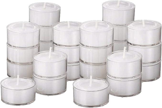 250 Tea Night Lights Candles 8 HOUR LONG BURN Unscented Tealights Nightlight 8HR
