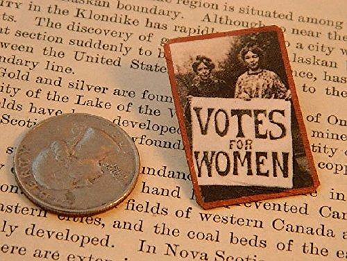 Feminist brooch Suffragette protestors Votes for Women Feminist lapel pin