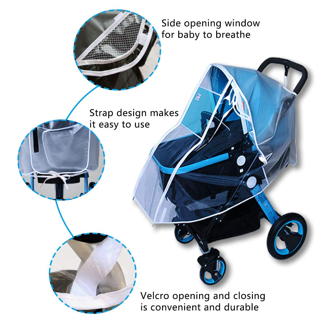 Augenschutzfenster Kinderwage Silingsan Universal Komfort Regenschutz f/ür Babyschale Schadstofffrei Gute Luftzirkulation Universal-Regenschutz