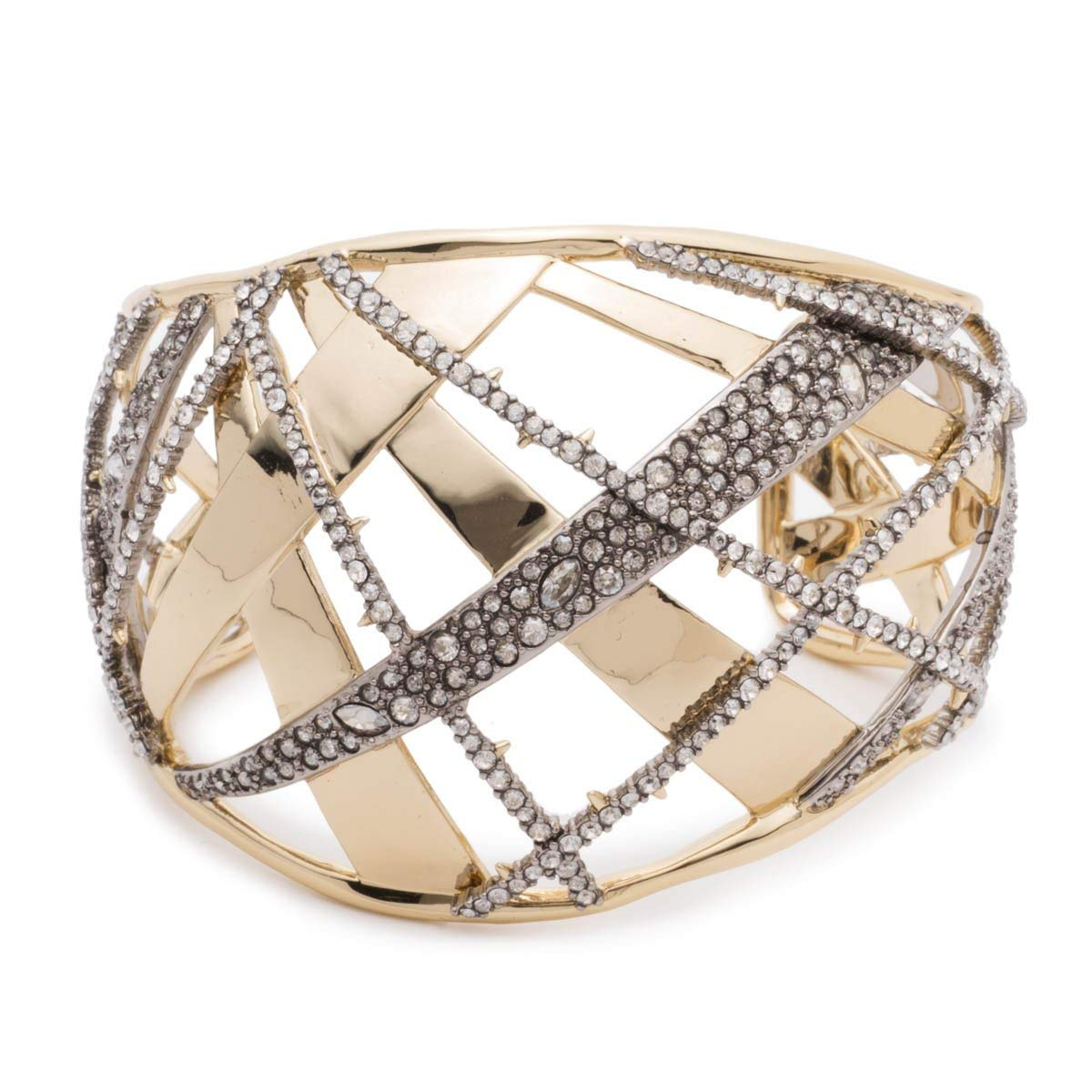 Alexis Bittar Women's Crystal Encrusted Medium Plaid Cuff Bracelet