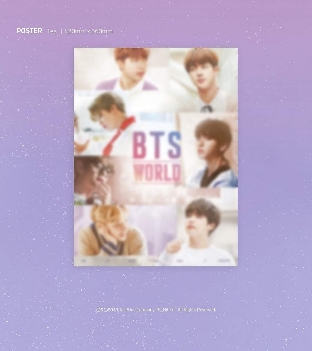 BTS Bangtan Boys - BTS World OST CD+88p Photobook+Double Side Photocard+Game Coupon+Lenticular+Folded Poster+Double Side Extra Photocards Set by Bighit