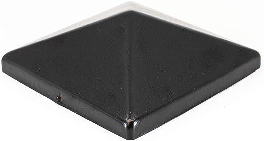 "5-1//2/"" x 5.5/"" PVC Fence Post Flat Pyramid Caps Tops Vinyl White cap USA pair"