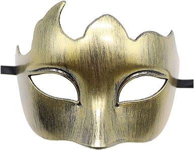 TOP QUALITY ANTIQUE GOLD HALF FACE PHANTOM Venetian Masquerade Party Ball Mask