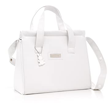 7277729dd70f2 Amazon.com : Cambrass Elegance Maternity Diaper Bag Candy, White : Baby