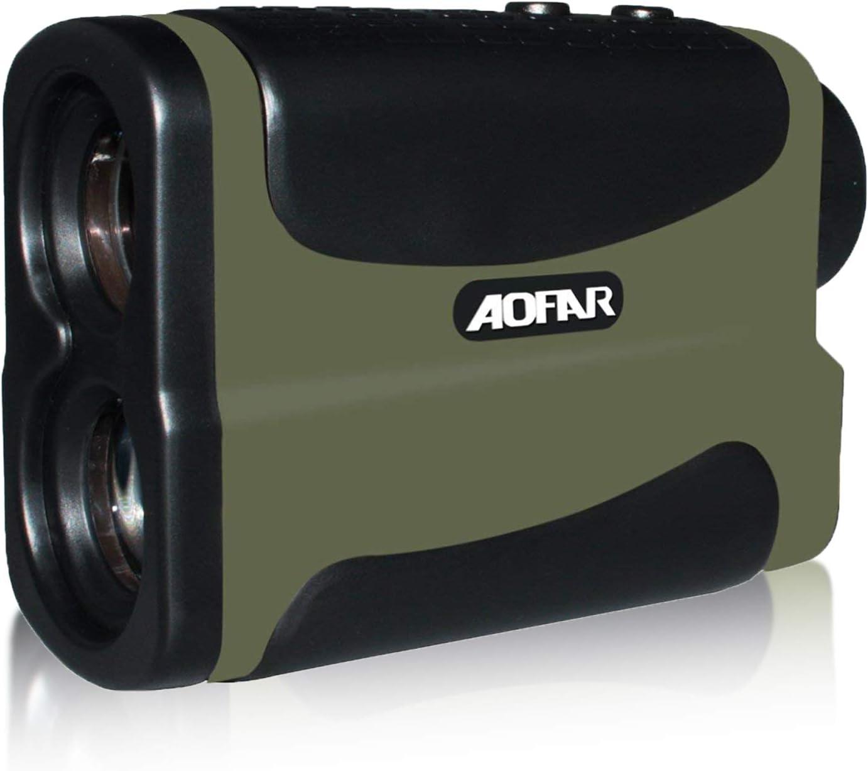 AOFAR HX-700N Telémetro de Golf Caza 700 metros Impermeable, 6X 25mm ocular Telescopio telémetro Medición de Distancia de velocidad Función de escanea y en niebla Batería a gratis