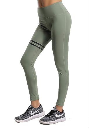 85eb6b1d17 SEASUM Pantaloni Yoga da Donna elastici collant Leggings sportivi Verde  Taglia S: Amazon.co.uk: Clothing
